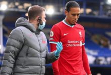 "Photo of Virgil van Dijk: Everton "" désolé "" pour la blessure subie par le défenseur de Liverpool"